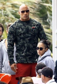 Dwayne Johnson Photos Photos - Stars are spotted on the set of 'Baywatch' filming in Miami, Florida on March 07, 2016.
