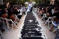 mensaje en alfombra