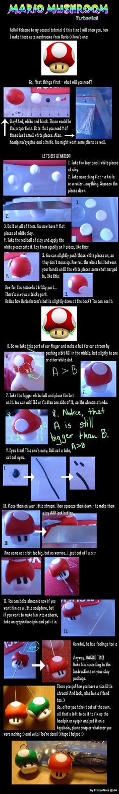Mario mushroom polymer clay tutorial