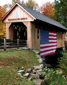 Cilleyville Covered Bridge is a lovely bridge that spans Pleasant Brook in Andover, NH. - Cilleyville Covered Bridge, Andover, NH - New England Travel at BellaOnline New Hampshire, State Parks, Manhattan, Old Bridges, New England Travel, Home Of The Brave, Land Of The Free, Old Barns, Covered Bridges