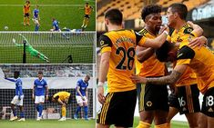 Wolves 2-1 Brighton: Hosts complete late comeback after Lewis Dunk scores and is then sent off | Daily Mail Online Wolverhampton Wanderers Fc, Danny Welbeck, Premier League Goals, West Brom, Free Kick, League Gaming, Burnley, Wolves, Scores