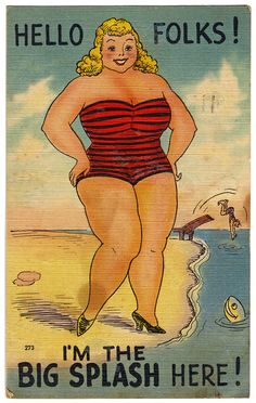 Vintage Beach Postcard-1945 Port Neches, Texas
