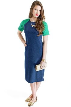 Camille - made with stretchy ponte fabric, this t shirt dress is just perfect for chilling out!