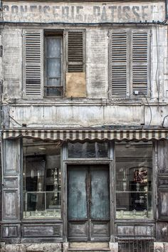 #Abandoned,#Derelict and #Forgotten old Confectioner and Patisserie|Grey Shop Front by hubert61