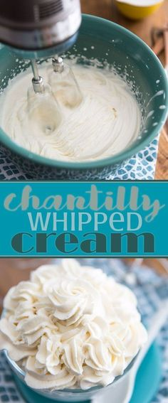 Perfect Chantilly Whipped Cream is definitely one of those essential recipes that you absolutely need to master. This recipe provides step by step instructions so you can make perfect whipped cream every time.