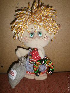 Купить Домовёнок - разноцветный, домовой, домовик, Домовичок, домовёнок, кукла ручной работы, кукла в подарок