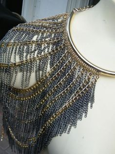 Shoulder necklace. Body Chain Harness, Upper Arm Cuffs, Shoulder Necklace, Body Chain Jewelry, Max Azria, Crystal Necklace, Crochet Top, Crystals, Story Inspiration