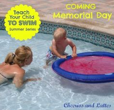 Teach Your Child to Swim Series; be your child's swim teacher with step-by-step instructions for infants-children. No swim lessons for Addie! I learned to swim without them and I'm pretty sure I can help her learn as well. Summer Activities, Learning Activities, Kids Learning, Teaching Kids, Swim Lessons, Summer Kids, Raising Kids, Outdoor Fun, Future Baby
