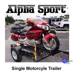 Constructed from heavy-duty tubular steel and diamond tread plate, Alpha Sport gives you the strength and stability you need to haul your motorcycle with confidence. Suspended on an independent torsion axle attached to 13'' aluminum wheels and radial tires, it provides the added muscle and maneuverability you demand to navigate rough roads. Designed with a 3-piece ramp and integrated chock, Alpha Sport gives you the freedom to ride on and load up.