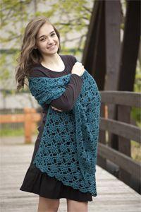 Gemstones Crocheted Shawl Cascade Yarns