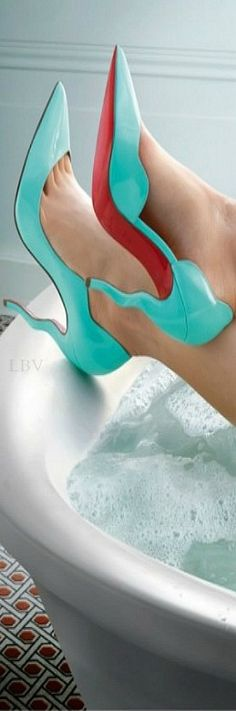 "Christian Louboutin ♥✤ ""Water in Love"" by photographer Peter Lippmann 