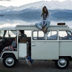 This is exactly what I want in life. A van, the road, and beautiful surroundings.