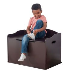 Price: KidKraft Austin Toy Box:Available in many colors, including: Bubblegum, Blueberry, Cherry, Espresso and GraySafety hinge prevents lid from dropp Wooden Toy Boxes, Wooden Toys, Kids Bedroom Furniture, Rustic Furniture, Office Furniture, Toy Storage Bench, Furniture Storage, Heavy Blanket, Cozy Room