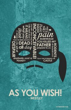 The Princess Bride Mask Inspired Quote Poster by OutNerdMe on Etsy