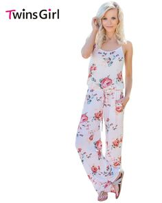 278db7ff1f Romper Women Jumpsuits 2017 Summer New Fashion Plus Size Holiday Party  Floral Wide Leg Long Jumpsuit