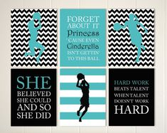 Inspirational quote art girls quotes wall art basketball girl basketball wall art basketball player sports art for girls set of 4 by PicabooArtStudio Sport Basketball, Basketball Tricks, Basketball Is Life, Basketball Funny, Basketball Players, Basketball Skills, Basketball Stuff, Basketball Pictures, Basketball Shoes