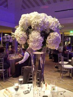 Kevin botanical s on gulf Naples Florida awesome hydrangea centerpiece