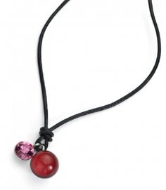 Order red neck pendant with crystal pendant