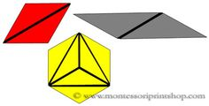 Constructive Triangles Large Hexagonal Box - 11 Triangles for the Large Hexagonal Box. Includes black & white outlines and Control Charts