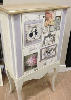 Diy Furniture Plans, Furniture Projects, Furniture Makeover, Chalk Paint Furniture, Hand Painted Furniture, Vintage Crafts, Little Houses, Home Decor Inspiration, Repurposed