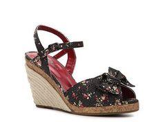 Cliffs by White Mountain Twist Wedge Sandal Wedges Sandal Shop Women's Shoes - DSW