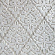 Damask pattern handmade tile