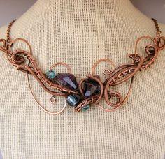 Wire jewelry  copper necklace  copper wire by DebraNicholls