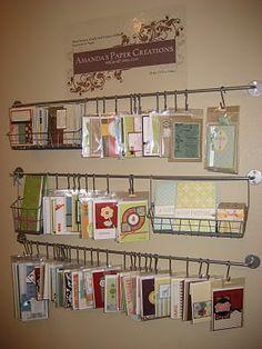 Great way to display my cards I make. Amanda's Paper Creations
