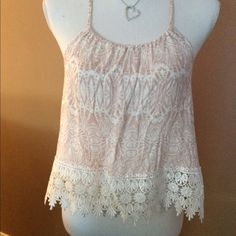 Pink and white top NWT Amazing what you find when cleaning closets. cute top. NWT Tops Tank Tops