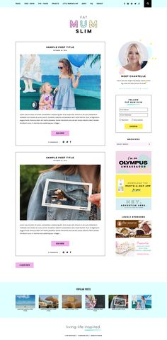 Custom WordPress Blog Theme for Fat Mum Slim