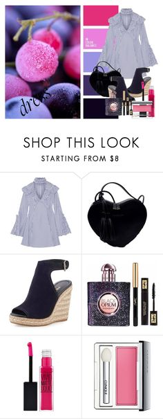 """""""Senza titolo #474"""" by emma-costamagna ❤ liked on Polyvore featuring Caroline Constas, Prada, Yves Saint Laurent, Clinique and chokerdress"""