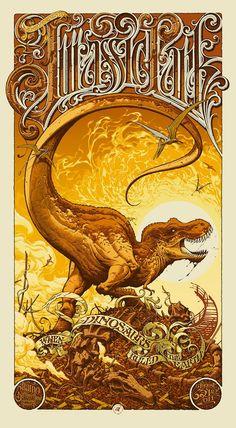 Jurassic Park, by Aaron Horkey.