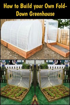 Extend Your Growing Season With This DIY Fold-Down Greenhouse
