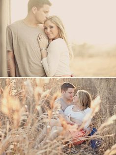 Country outdoor engagement shoot! Love the light in these!! So simple yet stunning.