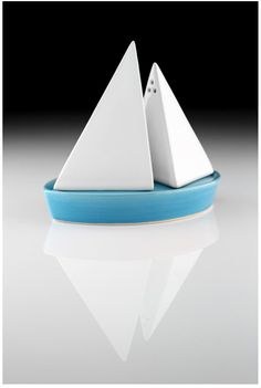 Salt and pepper shakers, that look like a boat.  Cool beans.:)