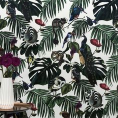 Amazonia Light Wallpaper | Witch and Watchman. £240 per roll