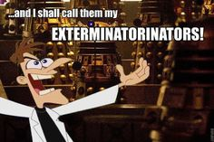 doctor who phineas and ferb crossover :D