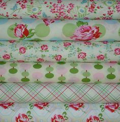 Tanya Whelan Sugar Hill 1/2 yard bundle 4 by skyerevefabrics, $27.00