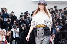 Burberry NYFW love the outfit especially the BELT!