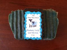 Blueberry Vanilla Fragranced Olive Oil Coconut Goat Milk Soap by TheTexasCrafter