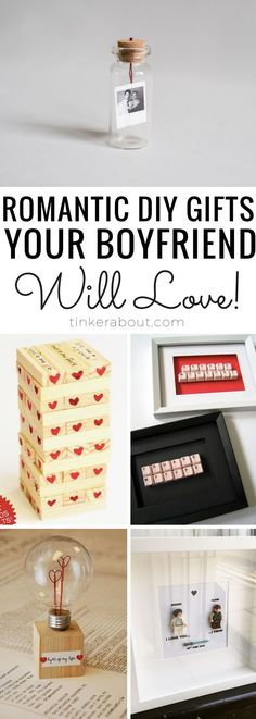 Want to surprise your boyfriend or husband with a creative Anniversary gift idea? This post is here to show you 17 romantic Anniversary Gift ideas or Birthday Gift Ideas for him he'll surely love! It doesn't matter if you are looking for gifts for boyfriend or your husband - I'm sure you will find something you will want to make! #giftsforboyfriend #anniversarygifts #birthdaygiftideas