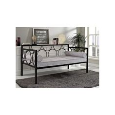 Twin Metal Daybed Bedroom Furniture Black Day Guest Bed Frame Home Kids Girl Boy