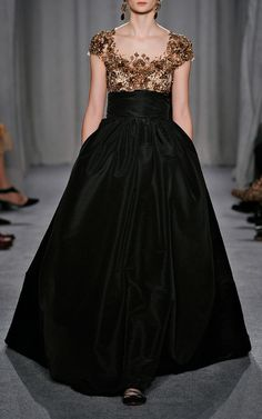 3D Floral Ribbon Embroidered Ball Gown by Marchesa, Fall-Winter 2014 (=)