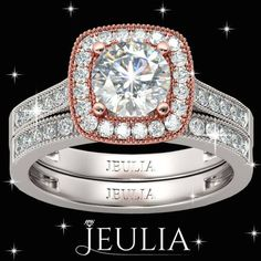 White Sapphire Sterling Silver Engagement Ring #jeulia #engagementrings #fashionjewelry
