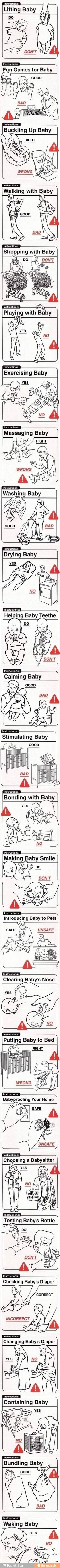 The guide for a man left alone with the baby