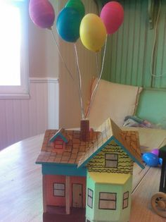 "Starlee's ""Up house"" Easter egg for the Tippetts family egg decorating contest 2013. The only rule is you have to use real eggs!"
