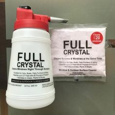 Full Crystal Outdoor Glass Cleaner On Sale Window Washing Cleaner, Best Window Cleaner, Best Glass Cleaner, Washing Windows, Clean Outdoor Windows, Garden Furniture Sale, Fuller Brush, Cleaning Screens, How To Clean Crystals