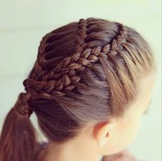 For a fancy dinner party or something of that formal and classy sort. Combination of multiple french braids wound together Unique Braids, Beautiful Braids, Gorgeous Hair, Fancy Hairstyles, Creative Hairstyles, Girl Hairstyles, College Hairstyles, Curly Hair Styles, Natural Hair Styles