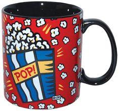 Westland Giftware 4Inch Burton Morris Popcorn Stoneware Mug 14Ounce >>> Click image to review more details.