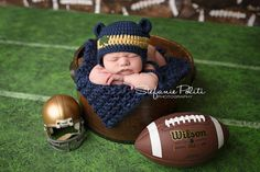 Baby Notre Dame hat for Newborn to 12 months by BellesBluffworks